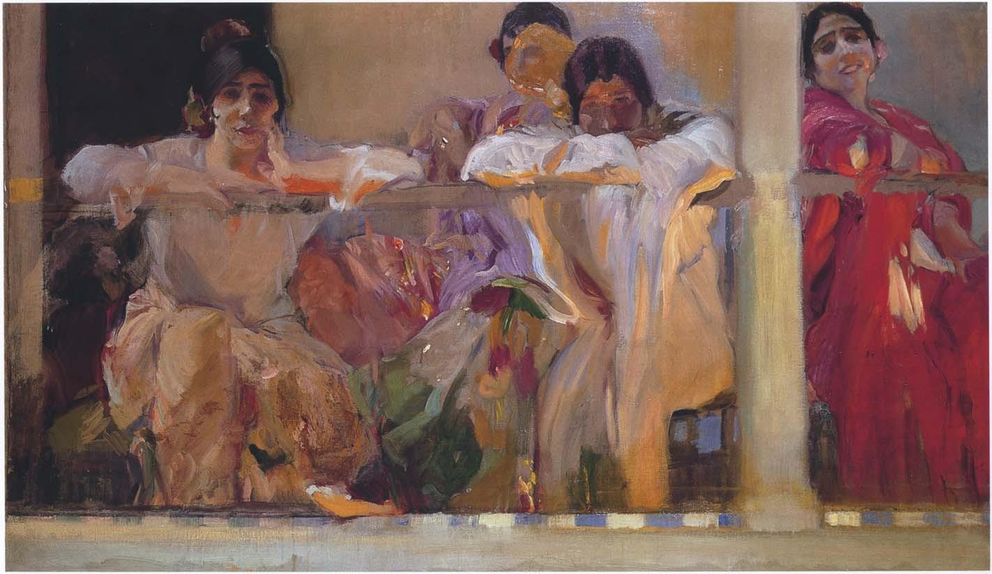 Artist's Patio, Cafe Novedades, Seville, Joaquin Sorolla y Bastida - 1915